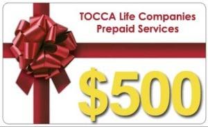 $500 Prepaid Services