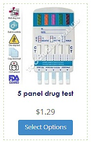 5 panel dip drug test